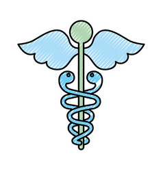 scribble medical symbol vector image