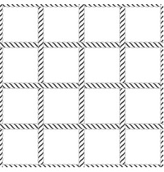 seamless rope knot pattern vector image