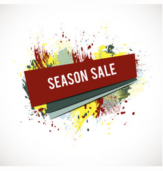 season-sale-splash-coral vector image