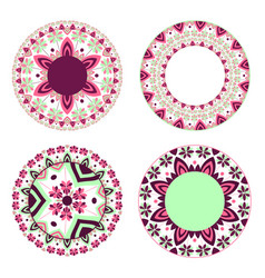 Set of abstract circular patterns vector