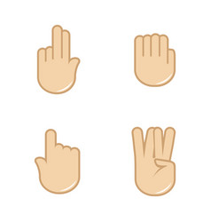 set of hand gestures icons sign language vector image