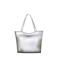 silver hand bag vector image