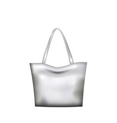 silver hand bag vector image