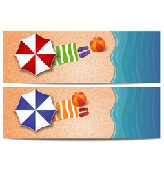 summer travel banners set with the sea vector image