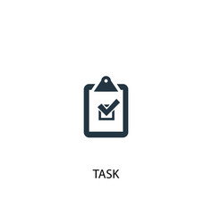 Task icon simple element task vector