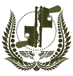 The icon with two Mauser vector image