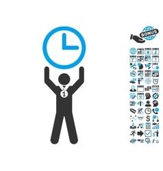 Time Champion Flat Icon With Bonus vector