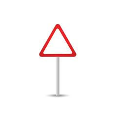 traffic sign graphic template vector image