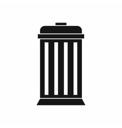 Trash can icon simple style vector image