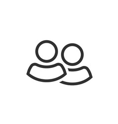 two people icon line outline two persons vector image