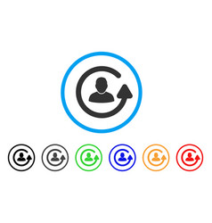 Update user rounded icon vector