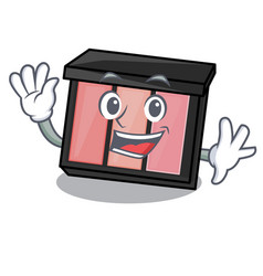 Waving eye shadow isolated with the mascot vector