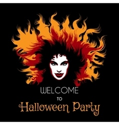 Welcome to Halloween Party Poster vector image