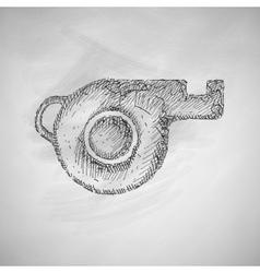 Whistle icon vector
