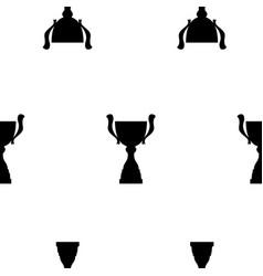 Winner trophy cup seamless pattern vector