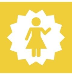 woman female pictogram vector image