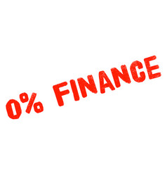 zero percent finance sticker vector image