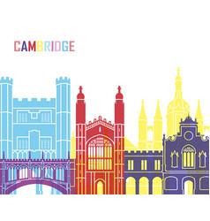 cambridge skyline pop vector image vector image