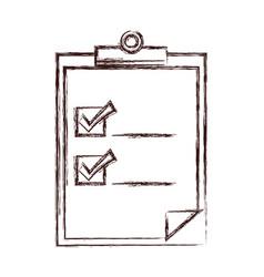 Checklist document icon vector
