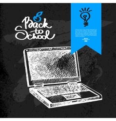 Hand drawn back to school background vector image vector image