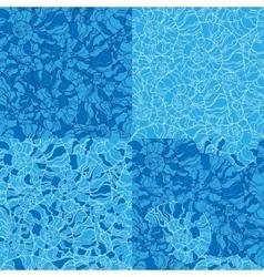 set of seashell seamless pattern vector image