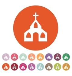 The church icon Christian and god catholic vector image