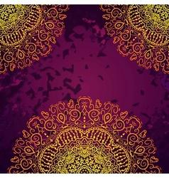 Vintage antique golden ornament background vector image