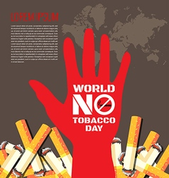 World No Tobacco Day background vector image