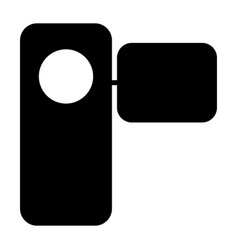 camcorder silhouette icon pictogram vector image vector image