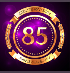 eighty five years anniversary celebration with vector image vector image