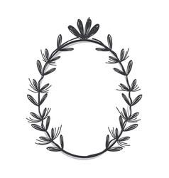 gray flowers design rustic icon vector image