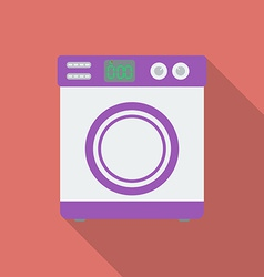 Washing machine icon Modern Flat style with a long vector image