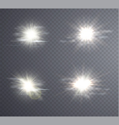 abstract white sun flare vector image