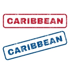 Caribbean Rubber Stamps vector image vector image