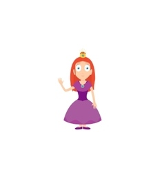 Cartoon characters of princess with purple dress vector