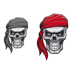 Danger pirate skull vector image vector image