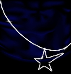 dark blue silk and jewel star vector image vector image