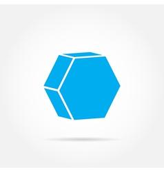 emblem hexagon vector image vector image