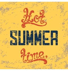 Hot summer time Calligraphic handwritten vintage vector image vector image