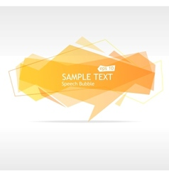 orange speech template vector image