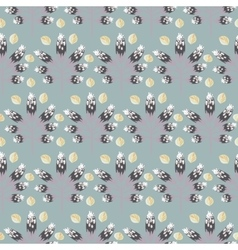 Spring wild flower slate gray color seamless vector