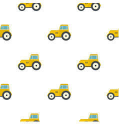 yellow tractor pattern flat vector image vector image
