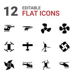 12 propeller icons vector