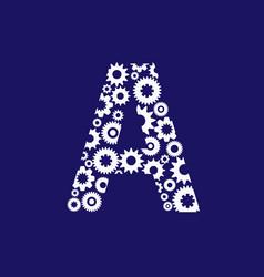a letter gear logo vector image
