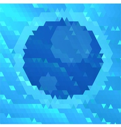 Abstract blue geometric vector image vector image