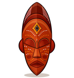 african mask wood concept vector image