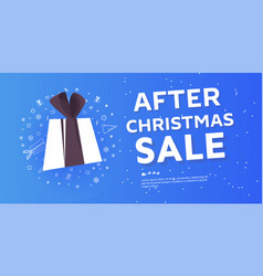 after christmas sale banner vector image