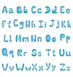 Alphabet blue vector image