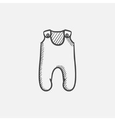 Baby romper sketch icon vector image
