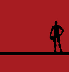 basketball player silhouette background vector image